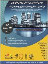 پوستر دومین کنفرانس بین المللی پژوهشهای نوین در عمران،معماری،مدیریت شهری و محیط زیست