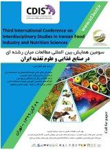 پوستر سومین همایش بین المللی مطالعات میان رشته ای در صنایع غذایی و علوم تغذیه ایران