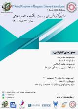 پوستر اولین کنفرانس ملی مدیریت، اقتصاد و علوم اسلامی