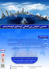 پوستر ششمین کنفرانس بین المللی گردشگری،فرهنگ و هنر