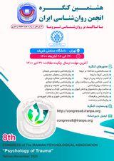 پوستر هشتمین کنگره انجمن روانشناسی ایران