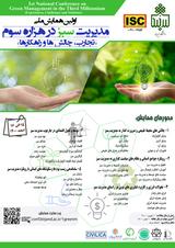 پوستر اولین همایش ملی مدیریت سبز در هزاره سوم؛ تجارب، چالش ها و راهکارها