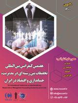 پوستر هفتمین کنفرانس بین المللی تحقیقات بین رشته ای در مدیریت، حسابداری و اقتصاد در ایران