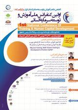 پوستر اولین کنفرانس ملی آموزش و توسعه سرمایه انسانی