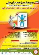 پوستر چهارمین همایش ملی دستاوردهای ورزش دانش آموزی