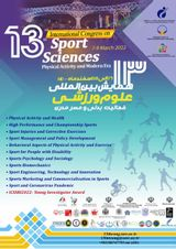 پوستر سیزدهمین همایش بین المللی علوم ورزشی