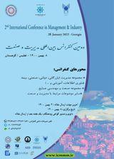 پوستر دومین کنفرانس بین المللی مدیریت و صنعت