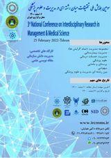 پوستر سومین همایش ملی تحقیقات میان رشته ای در مدیریت و علوم پزشکی