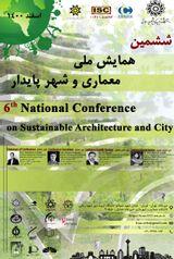 پوستر ششمین همایش ملی معماری و شهر پایدار