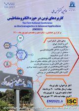 پوستر اولین کنفرانس ملی کاربردهای نوین در حوزه الکترومغناطیس